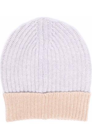 LORENA ANTONIAZZI Two-tone intarsia-knit beanie