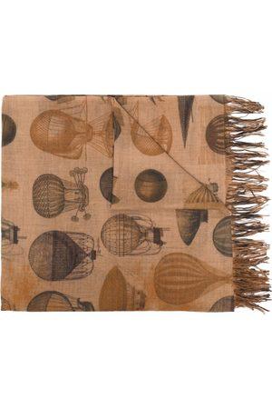 UMA WANG Women Scarves - Graphic-print wool scarf - Neutrals