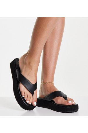 Simply Be Toe post flatform sandals in