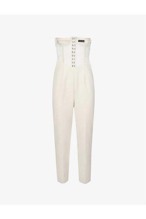 Lavish Alice Women Corsets - Underbust-corset stretch-crepe jumpsuit