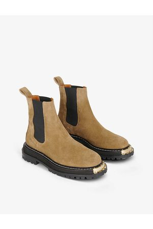 sandro Noha metal-detail suede Chelsea boots