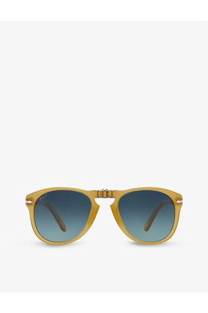 Persol PO0714SM Steve McQueen pilot-shape crystal glass and acetate sunglasses
