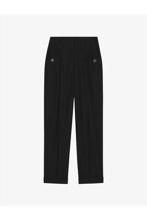 sandro Women Formal Trousers - Gary virgin wool-blend trousers
