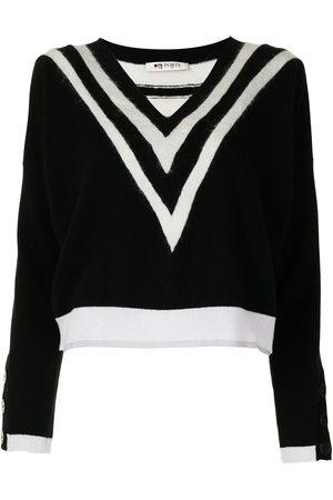 PORTS 1961 Chevron-knit jumper