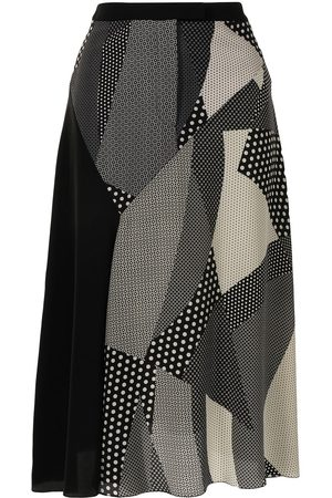 PORTS 1961 Women Skirts - Spotty-patchwork A-line skirt - AND