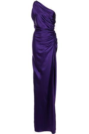 Michelle Mason Women Evening Dresses - One-shoulder silk gown