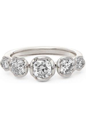 Annoushka Women Rings - 18kt white gold five diamond engagement ring