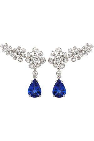 Annoushka 18kt white gold Marguerite diamond tanzanite earrings