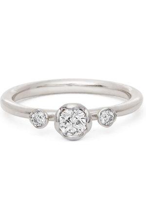 Annoushka 18kt white gold three-stone diamond engagement ring