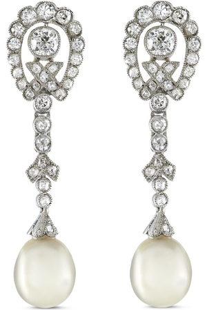 Pragnell Vintage Women Earrings - Pre-owned Edwardian 18kt rose gold diamond and pearl drop earrings