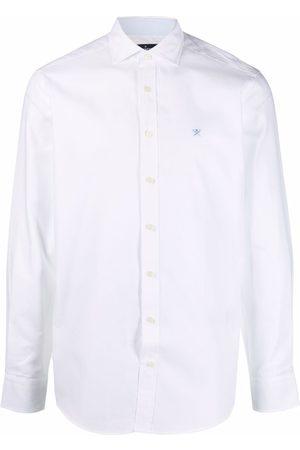 Hackett Men Long sleeves - Embroidered logo long-sleeve shirt