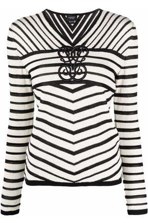 Giambattista Valli Striped v-neck sweater