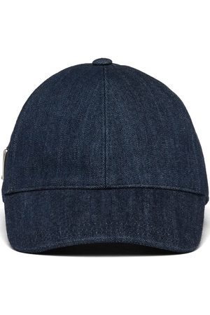 Prada Men Hats - Denim six-panel cap