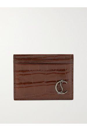 Christian Louboutin Men Purses & Wallets - Croc-Effect Leather Cardholder