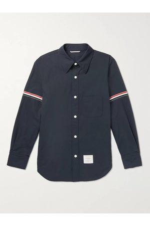 Thom Browne Men Casual - Grosgrain-Trimmed Shell Overshirt