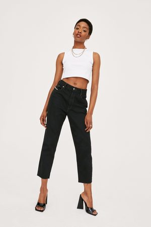 NASTY GAL Womens Vintage High Waisted Tapered Cropped Jeans