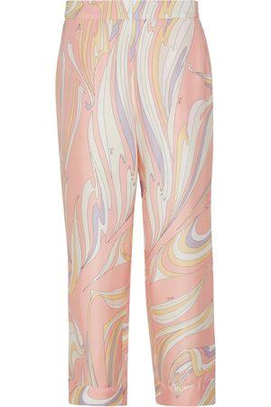Emilio Pucci Silk high-rise pants