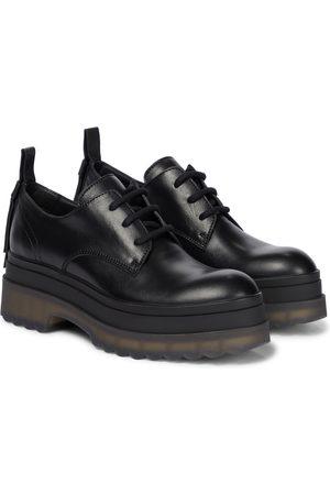 RED(V) Leather platform Derby shoes