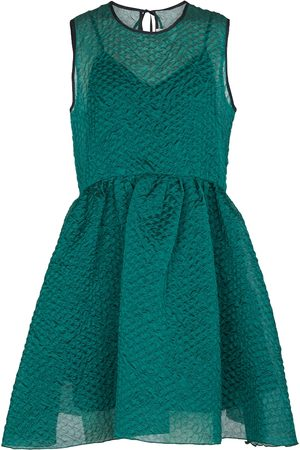 Victoria Victoria Beckham Silk-blend cloqué minidress