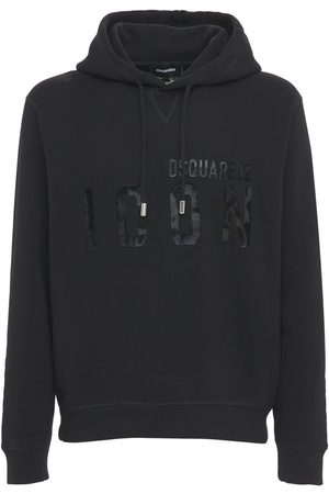 Dsquared2 Icon Print Shiny Cotton Jersey Hoodie