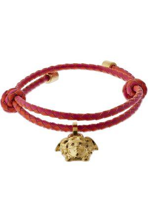 VERSACE Men Bracelets - Medusa Charm Leather Bracelet