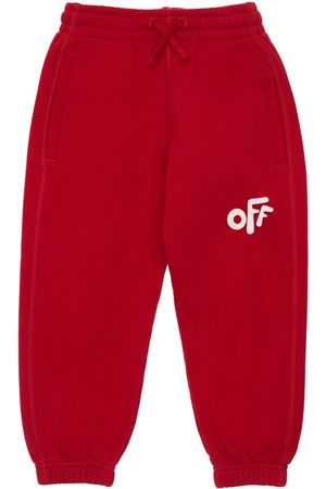 OFF-WHITE Girls Trousers - Logo Print Cotton Sweatpants