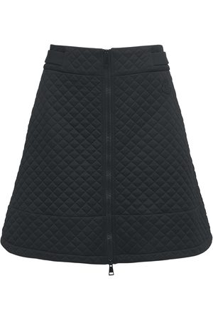 Moncler Women Mini Skirts - Quilted Jersey Mini Skirt