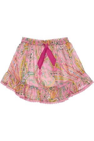 ZIMMERMANN Girls Printed Skirts - Paisley Print Cotton Skirt