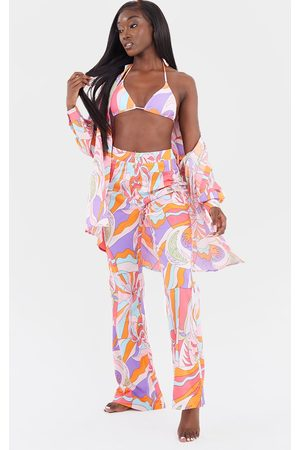PRETTYLITTLETHING Abstract Beach Trousers