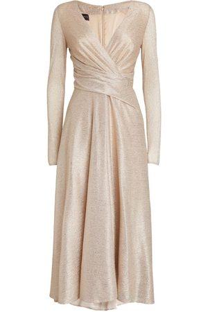 TALBOT RUNHOF Twist-Front Midi Dress