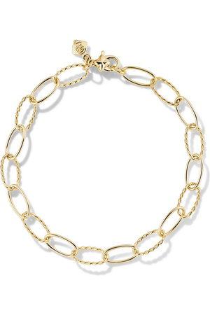 David Yurman 18kt yellow Stax oval link bracelet