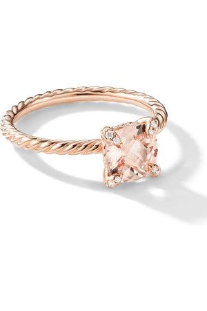 David Yurman 18kt rose gold Chatelaine morganite and diamond ring