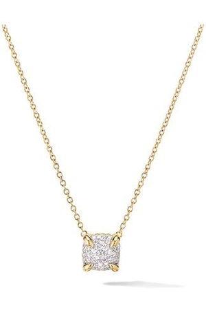 David Yurman 18kt yellow 7mm Châtelaine diamond pendant necklace