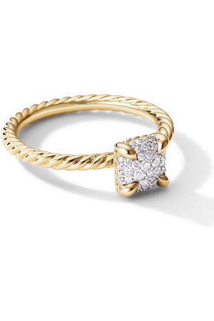 David Yurman 18kt yellow 7mm Châtelaine diamond ring