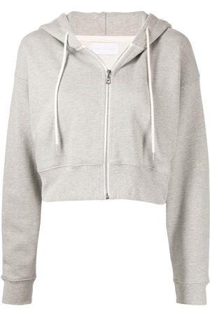 JOHN ELLIOTT Women Hoodies - Boca cropped zip-front hoodie
