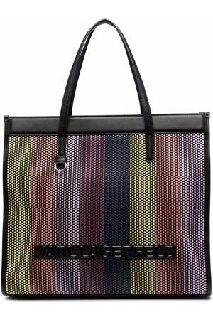Karl Lagerfeld Large braided tote bag