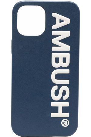 AMBUSH Phones - IPHO 12 PROMAX CASE MAXI LOG NAVY TOFU