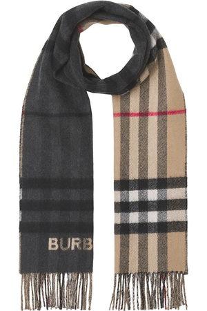 Burberry Contrast-check cashmere scarf