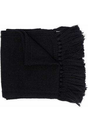 Versace Kids Medusa frayed-edge wool scarf
