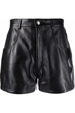 Manokhi High-waisted leather shorts