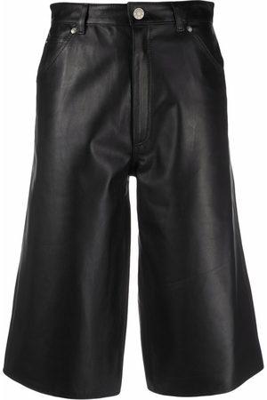 Manokhi High-waist leather culottes