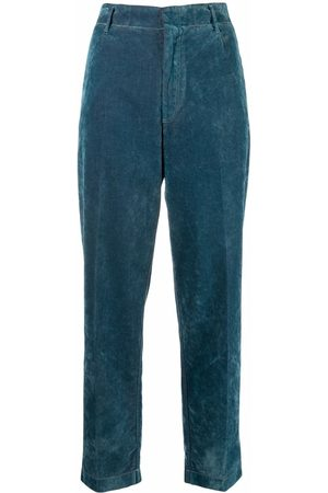 FORTE FORTE Slim-cut velour trousers