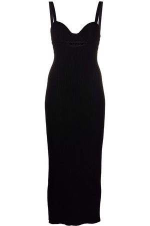 MAGDA BUTRYM Ribbed-knit fitted midi dress