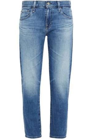 AG Jeans Woman Cropped Faded Boyfriend Jeans Mid Denim Size 23