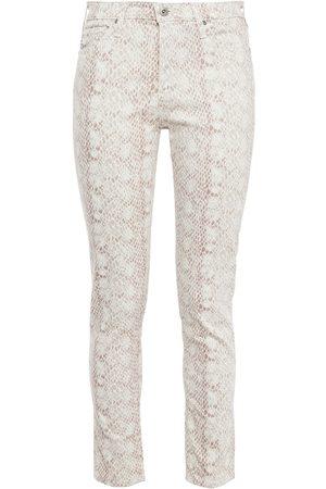 AG Jeans Woman Snake-print Mid-rise Slim-leg Jeans Antique Rose Size 23