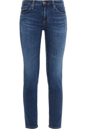 AG Jeans Woman Mid-rise Slim-leg Jeans Dark Denim Size 23