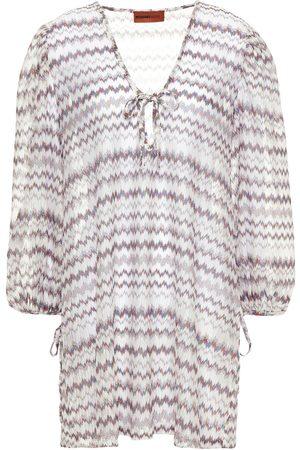 Missoni Woman Gathered Metallic Crochet-knit Coverup Size 38