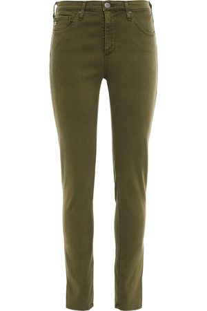 AG Jeans Woman Mid-rise Slim-leg Jeans Army Size 23