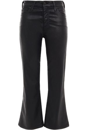 AG Jeans Woman Coated Cotton-blend Kick-flare Pants Size 23