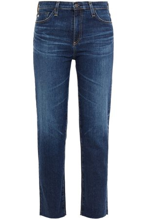 AG Jeans Woman Cropped High-rise Straight-leg Jeans Size 23